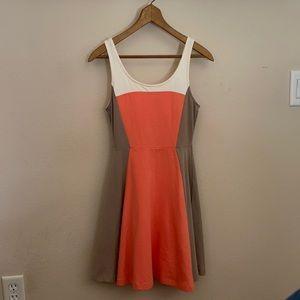 EXPRESS A-Line Midi Color Block Dress 👗CUTE!!!